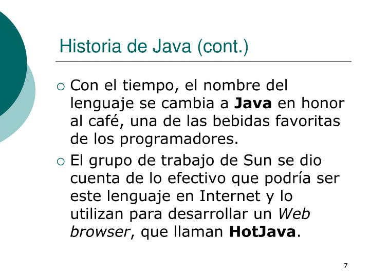 Historia de Java (cont.)