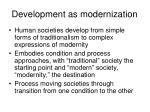 development as modernization