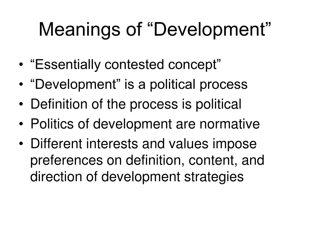 "Meanings of ""Development"""