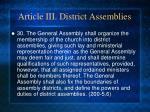 article iii district assemblies