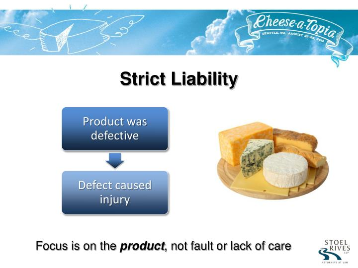 chapter 13 strict liability and product liability These are generally known as strict liability offences which is the term used in this chapter, though some lawyers refer to those offences requiring no mens rea at all as imposing absolute liability and those requiring no mens rea as to an element.