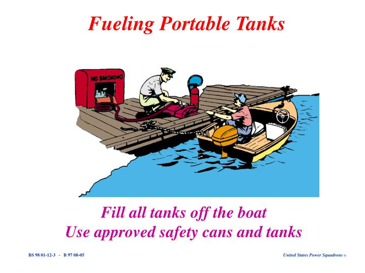 Fueling portable tanks