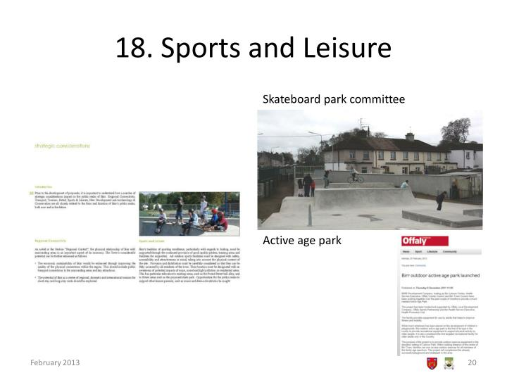 18. Sports and Leisure