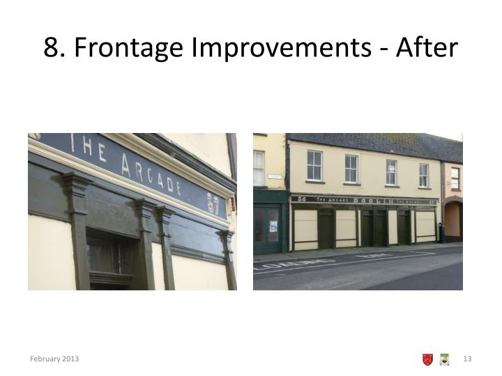 8. Frontage Improvements - After