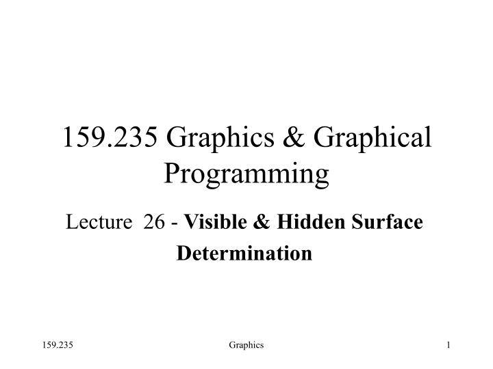 159 235 graphics graphical programming n.