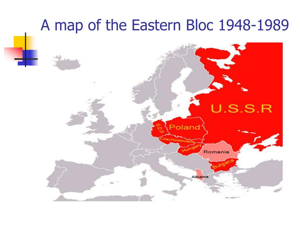 A map of the Eastern Bloc 1948-1989