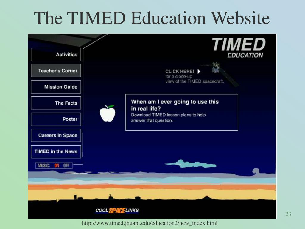 The TIMED Education Website