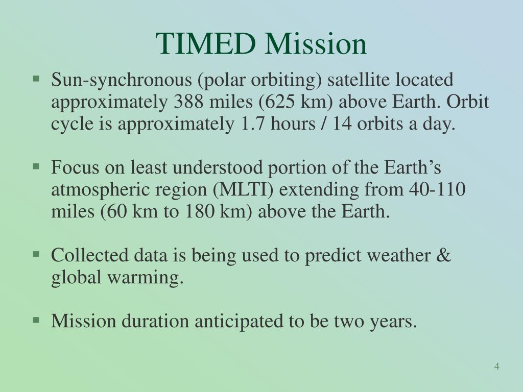 TIMED Mission