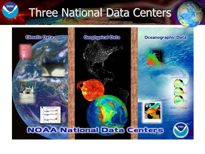 Three national data centers