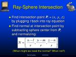 ray sphere intersection3