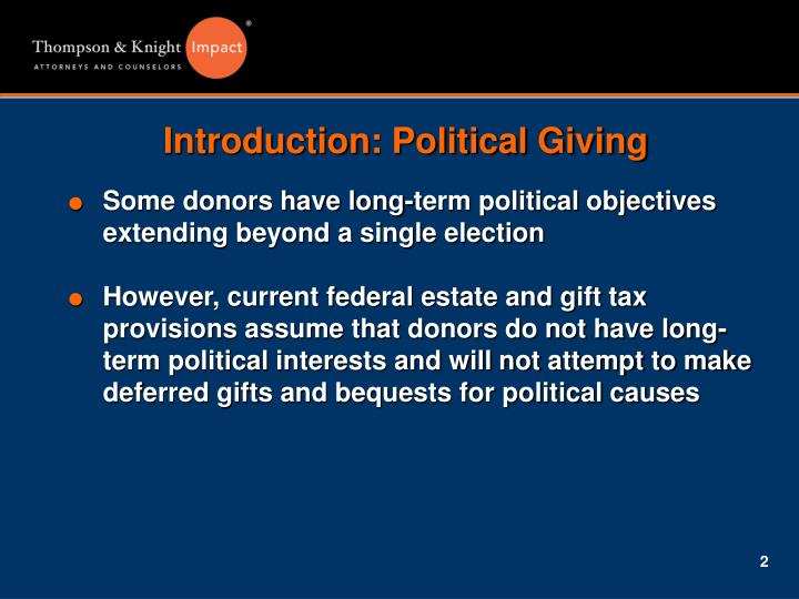 Introduction political giving1