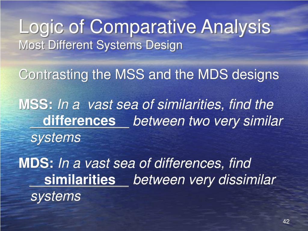 Logic of Comparative Analysis