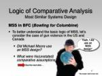 logic of comparative analysis most similar systems design