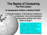 the basics of comparing the first lesson11