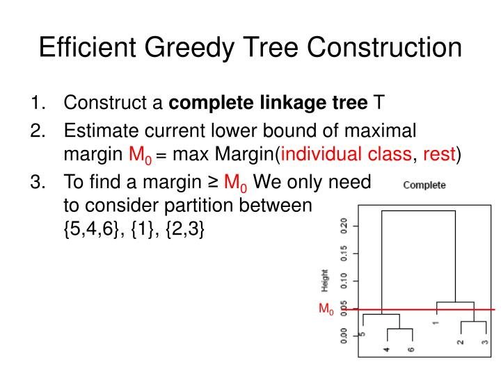 Efficient Greedy Tree Construction