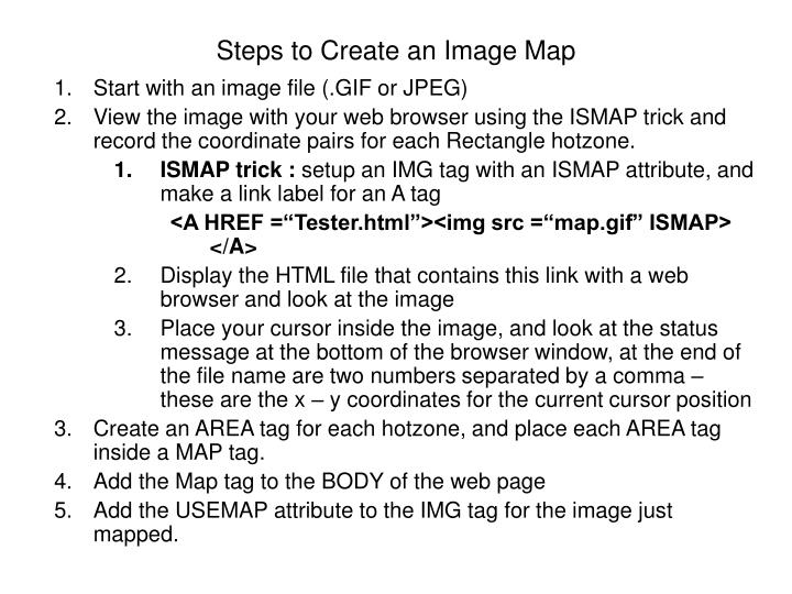 Steps to Create an Image Map