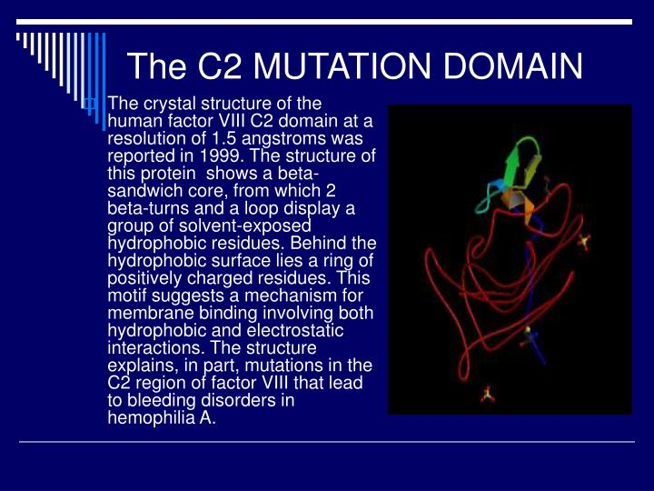 The C2 MUTATION DOMAIN