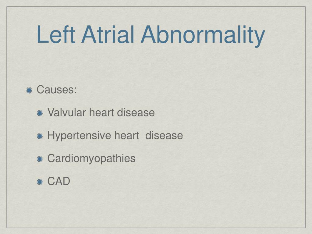 Left Atrial Abnormality