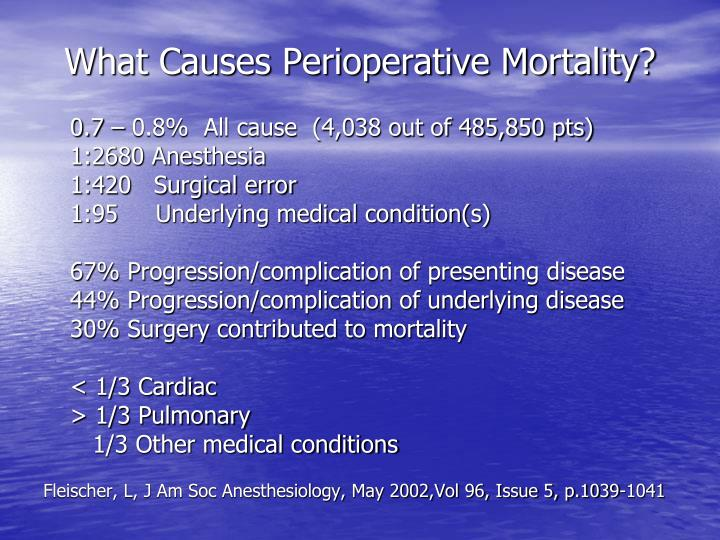What causes perioperative mortality