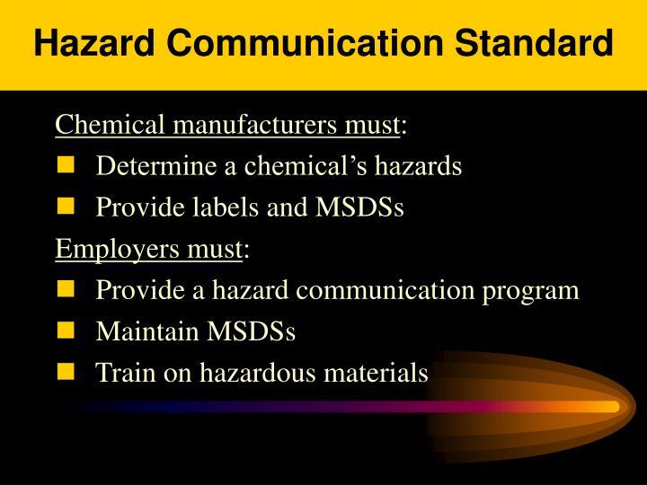 Hazard Communication Standard