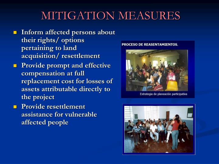 Inform affected persons about their rights/ options pertaining to land acquisition/ resettlement