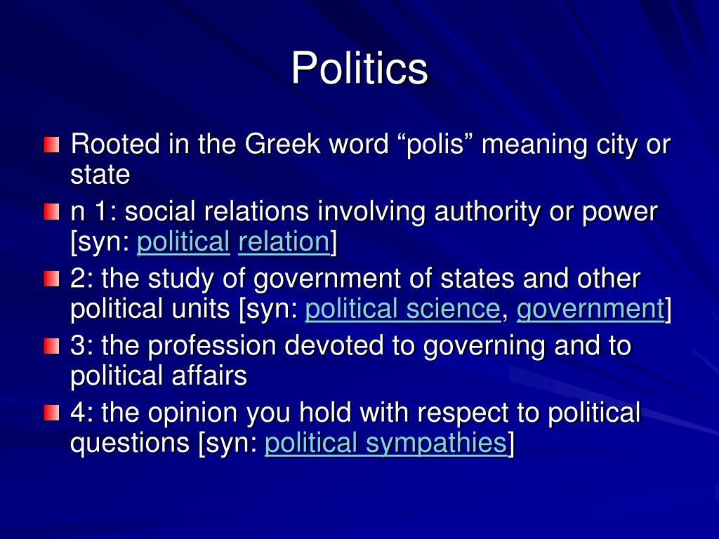politics l.
