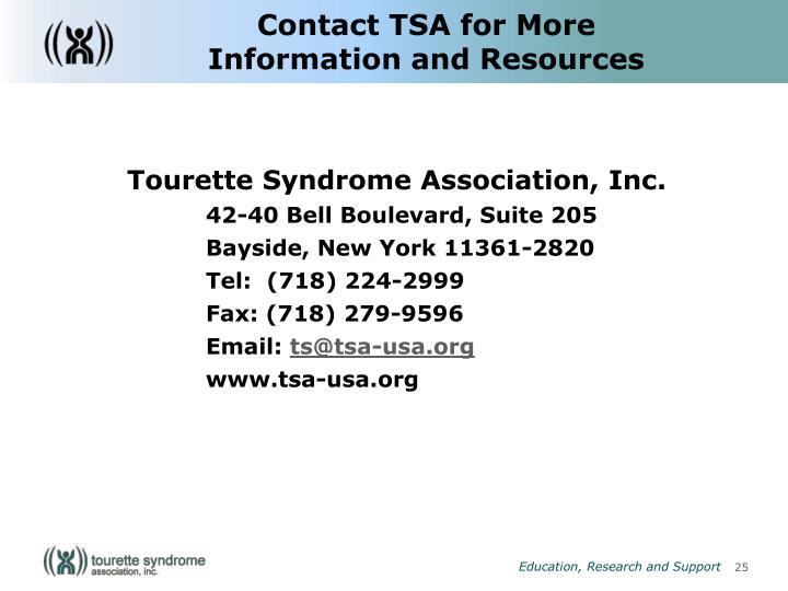 Contact TSA for More