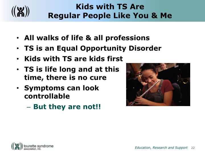 Kids with TS Are