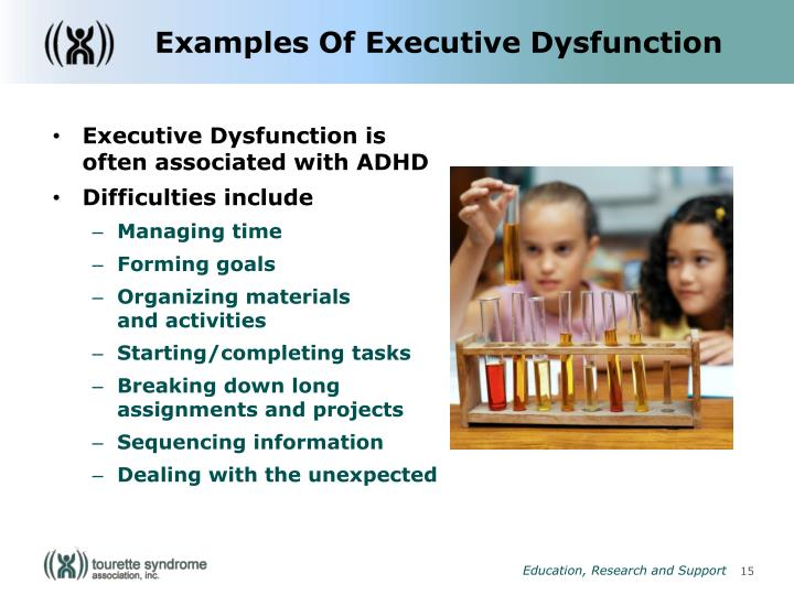 Examples Of Executive Dysfunction
