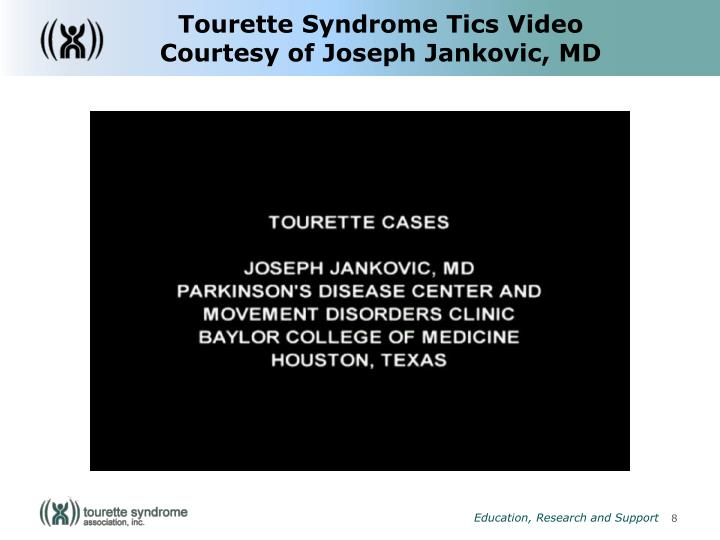 Tourette Syndrome Tics Video