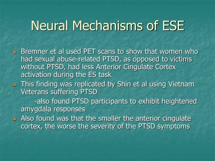 Neural Mechanisms of ESE