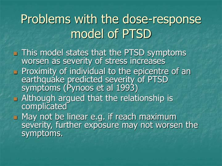 Problems with the dose-response model of PTSD