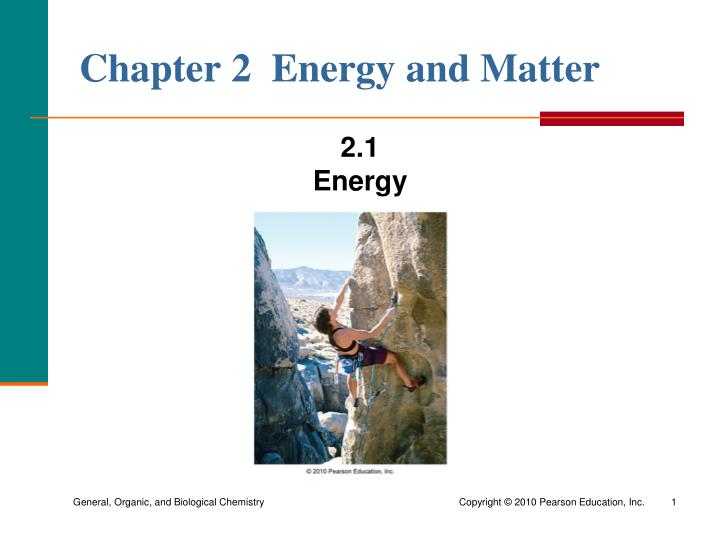 chapter 2 energy and matter n.