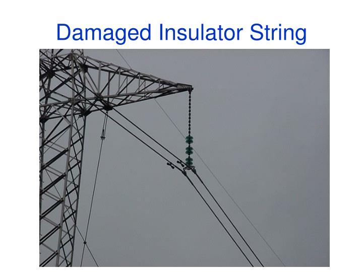 Damaged Insulator String