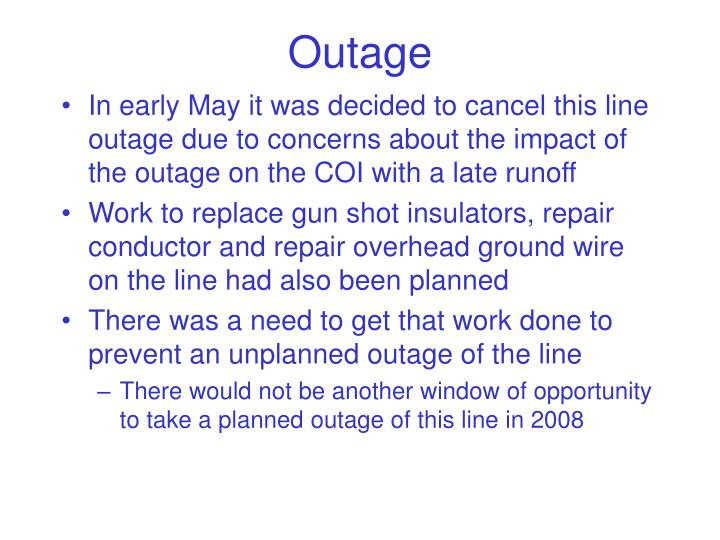 Outage
