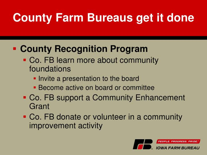 County Farm Bureaus get it done
