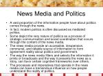 news media and politics