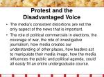 protest and the disadvantaged voice27
