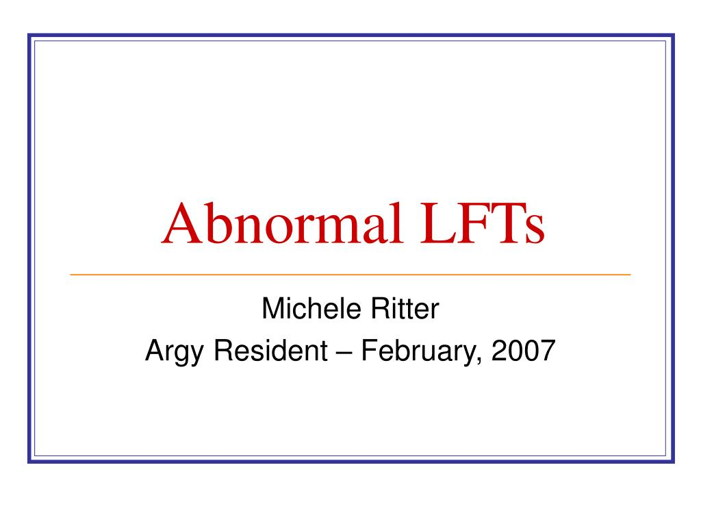 abnormal lfts l.