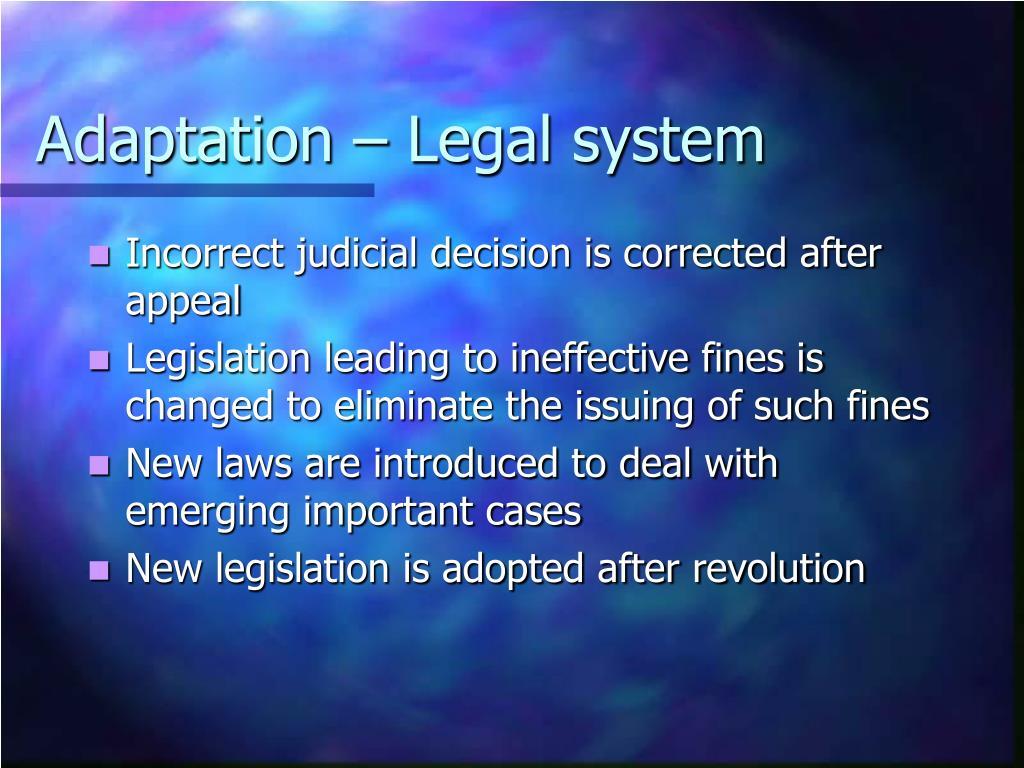 Adaptation – Legal system