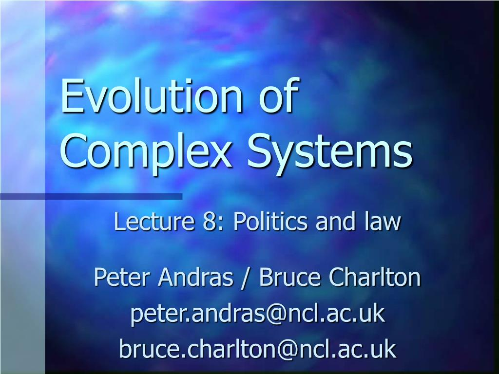 evolution of complex systems l.
