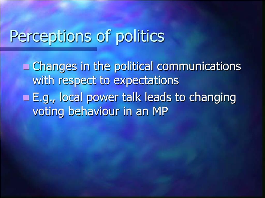 Perceptions of politics