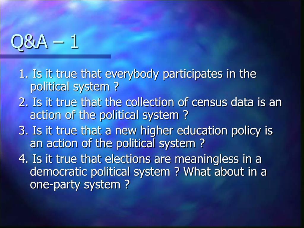 Q&A – 1