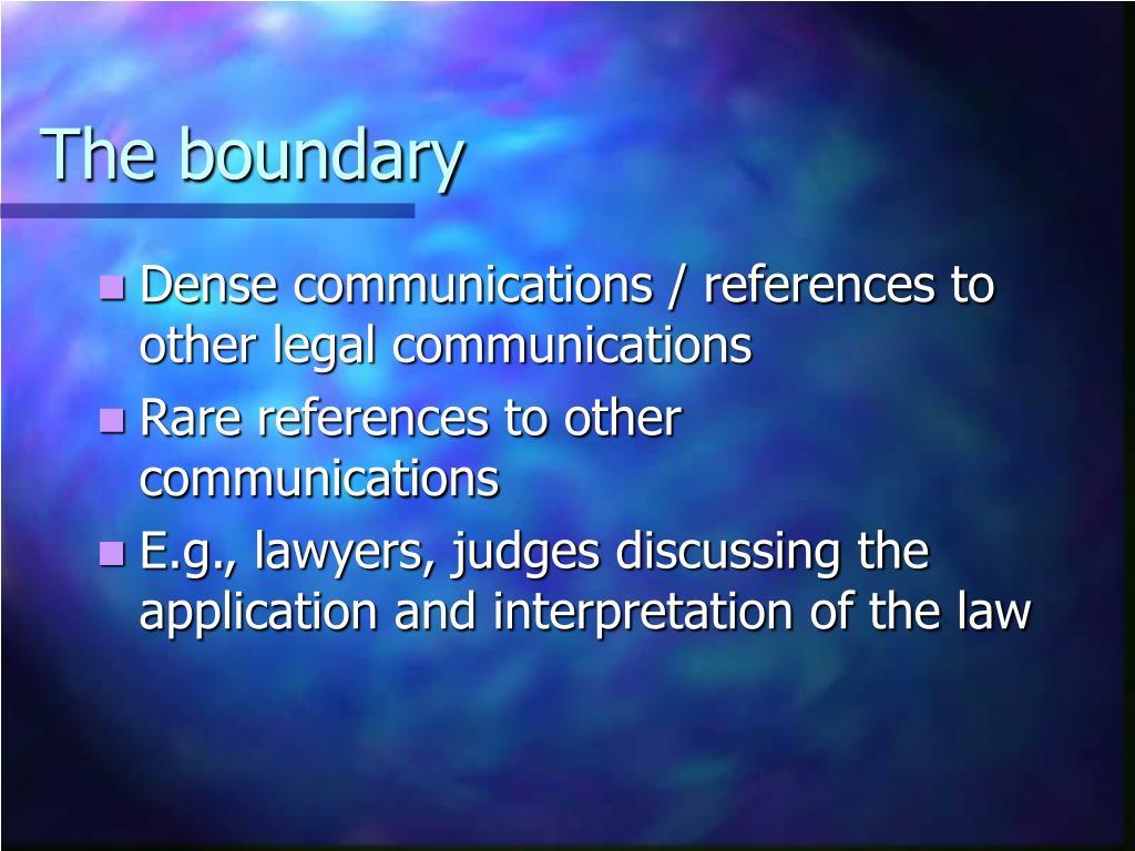 The boundary