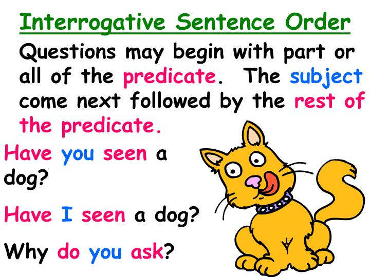 Interrogative Sentence Order