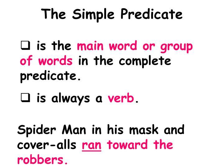 The Simple Predicate