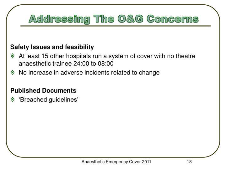 Addressing The O&G Concerns
