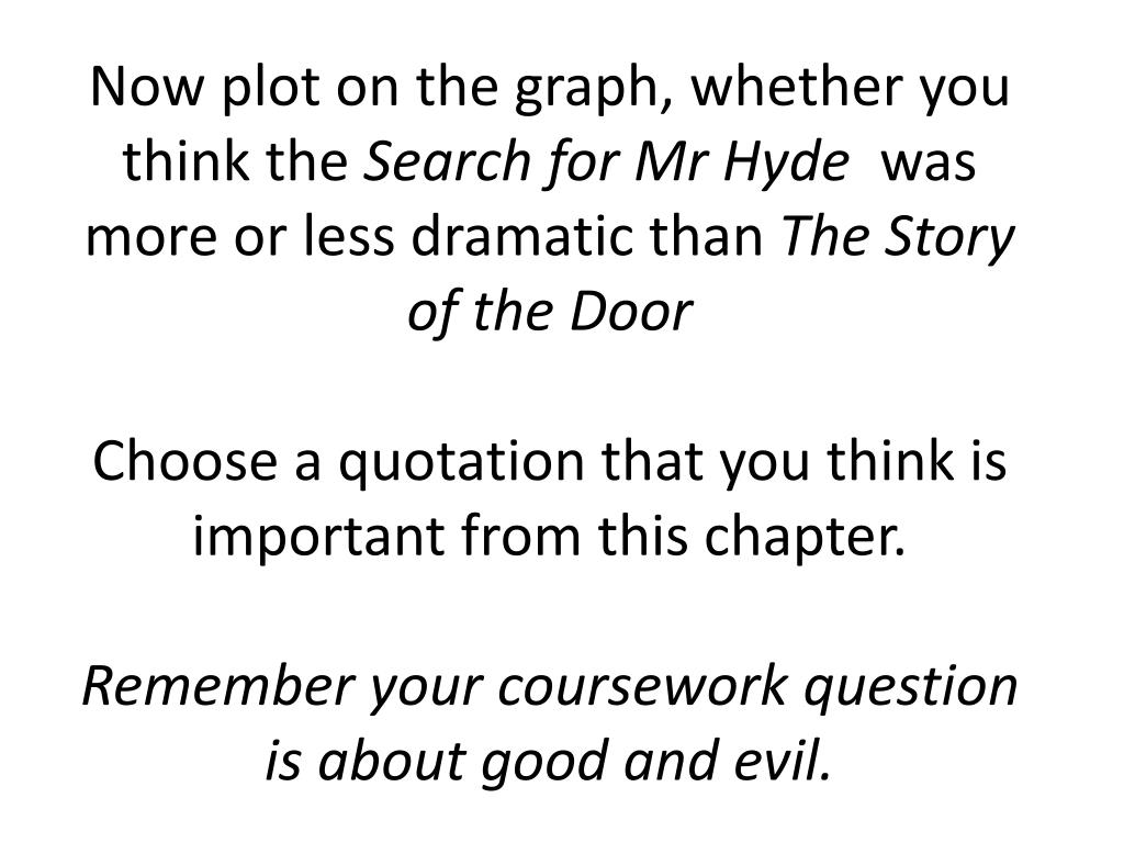 PPT - Using the description of Mr Hyde, that we are given ...