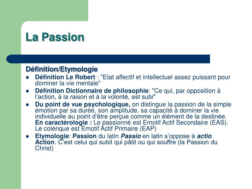 la passion l.