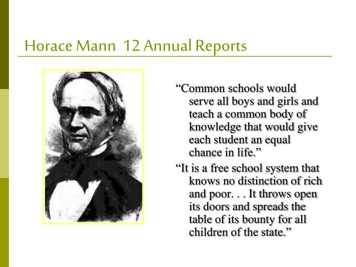 horace mann fourth report